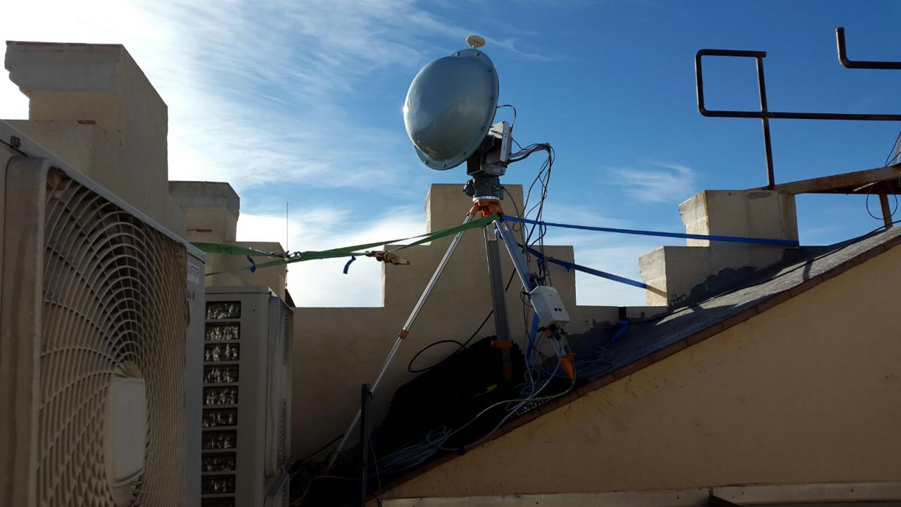 Receiving antenna at the Solsona situation centre