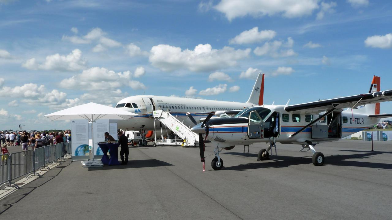 Cessna 208B Grand Caravan and VABENE++ at the ILA 2014