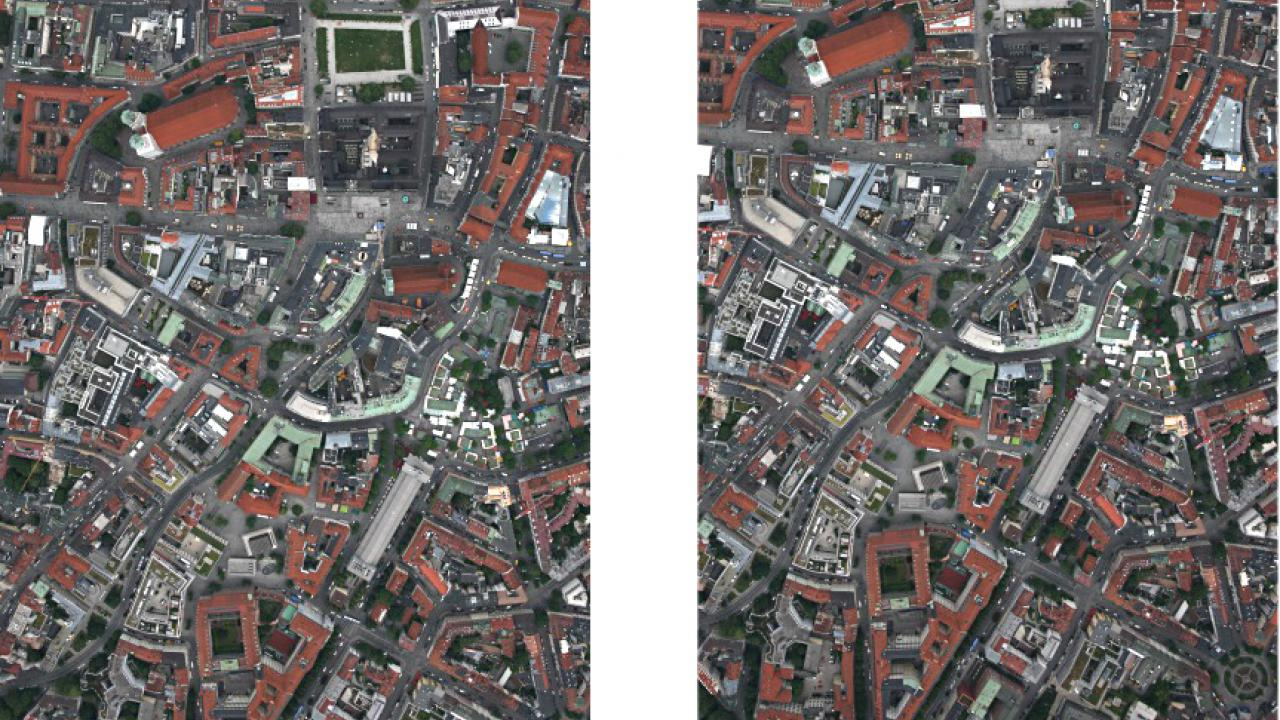 Digital surface models can be generated from aerial images