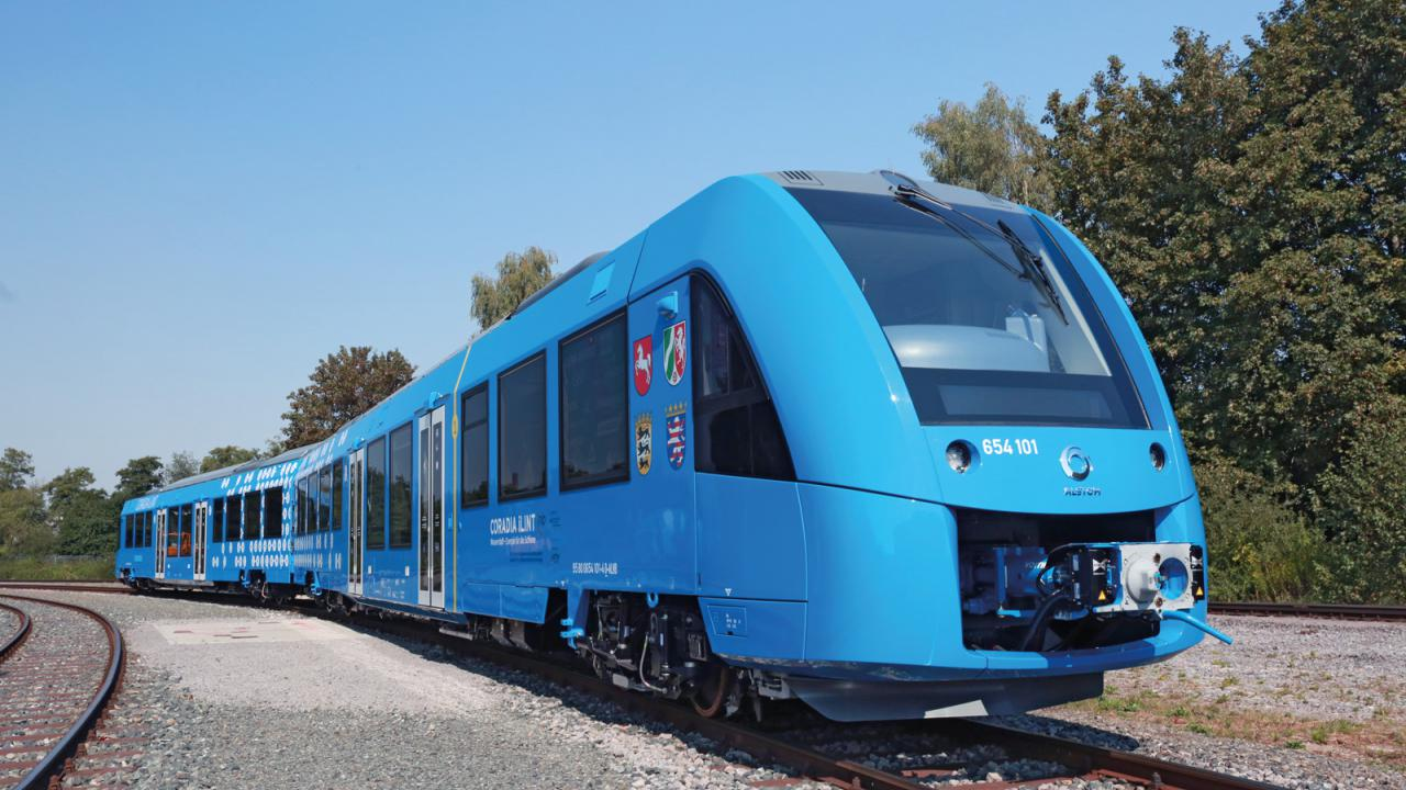 Ready for its first fuel-cell-powered trip – the Coradia iLint from Alstom.